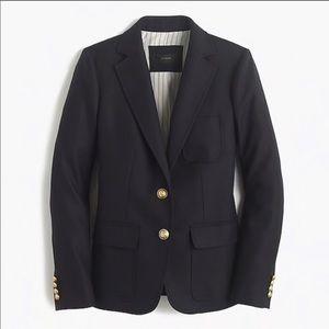 J. Crew Rhodes Navy Blue Blazer 100% Wool Size 4